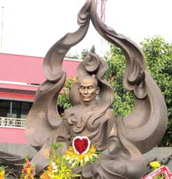 Statue honours patriotic monk