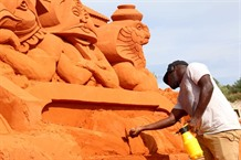 Phan Thiết sand sculpture park brings tourists to fairy tale world