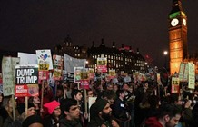 Thousands rally as British MPs debate Trump state visit
